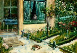 Scheiber Hugó - Virágos kert verandával