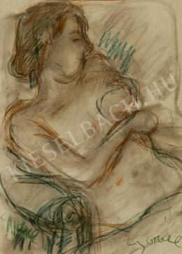 Czóbel Béla - Női akt fotelben