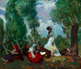 Iványi Grünwald, Béla - In the Open-Air (c. 1905)
