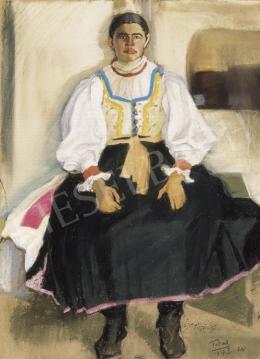 Farkas István - Lány népviseletben