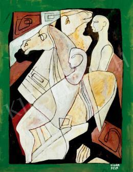 Kádár Béla - Két fiú lovakkal