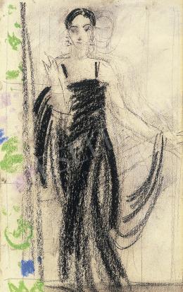 Vaszary János - Hölgy, fekete nagyestélyiben