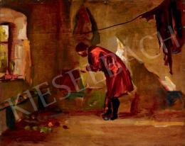 Tornyai János - A festő műterme (Piros ruhás nő) (1934)