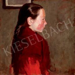 Fényes Adolf - Kislány kendővel (1905 körül)
