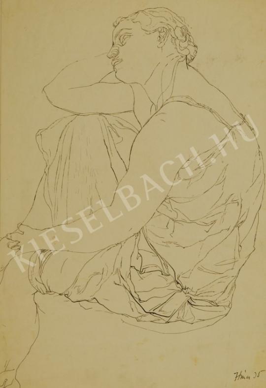 Hincz Gyula - Álmodozó festménye