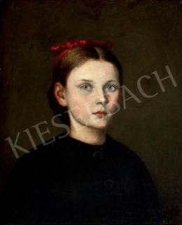Benczúr Gyula - Fiatal lány portréja (Benczúr Etelka)