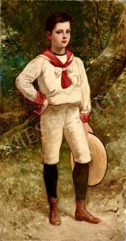 Lotz Károly - Kisfiú kalappal