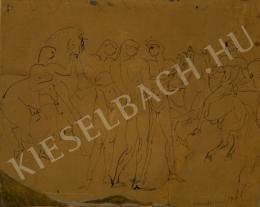 Kernstok Károly - Lovasok a vízparton (1910)
