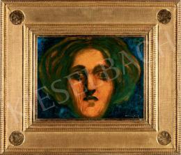Ferenczy Károly - Női arckép (Hullámos hajú lány)