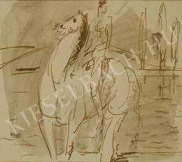 Márffy, Ödön - Horseman at Rivershore