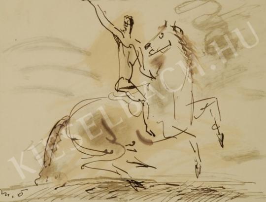 Márffy Ödön - Vágtázó lovas festménye