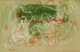 Marosán Gyula - Zöldes kompozíció (1947)