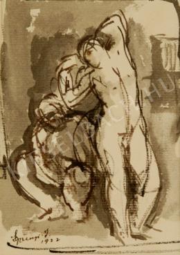 Szőnyi, István - Modells (Female Nudes) (1922)