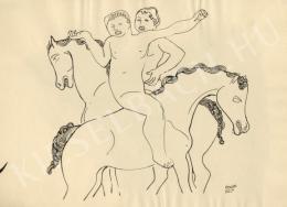 Kádár Béla - Két lovas