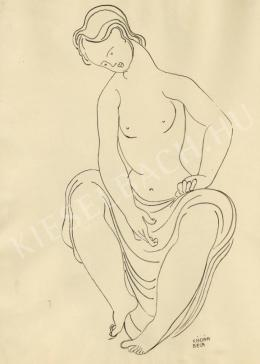 Kádár, Béla - Looking down (Female Nude)