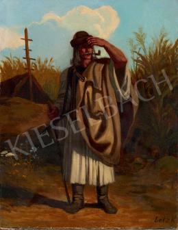 Lotz Károly - Távolba néző juhász