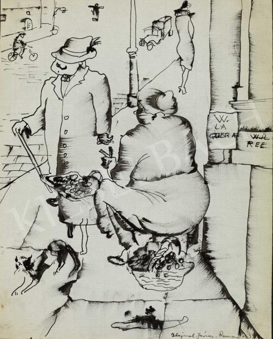 Hajnal János - Gesztenyesütő nő | 40. Aukció aukció / 212 tétel
