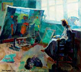 Nagy Oszkár - Nagybányai műteremben