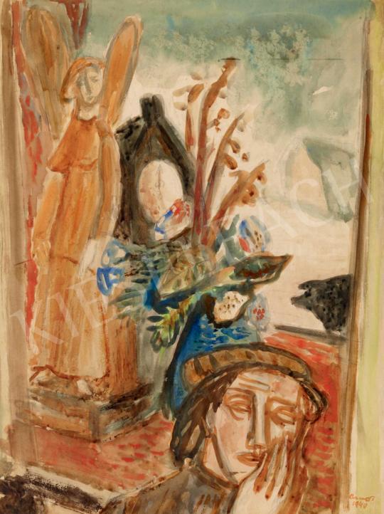 Ámos, Imre - Self-Portrait with an Angel | 40th Auction auction / 90 Item