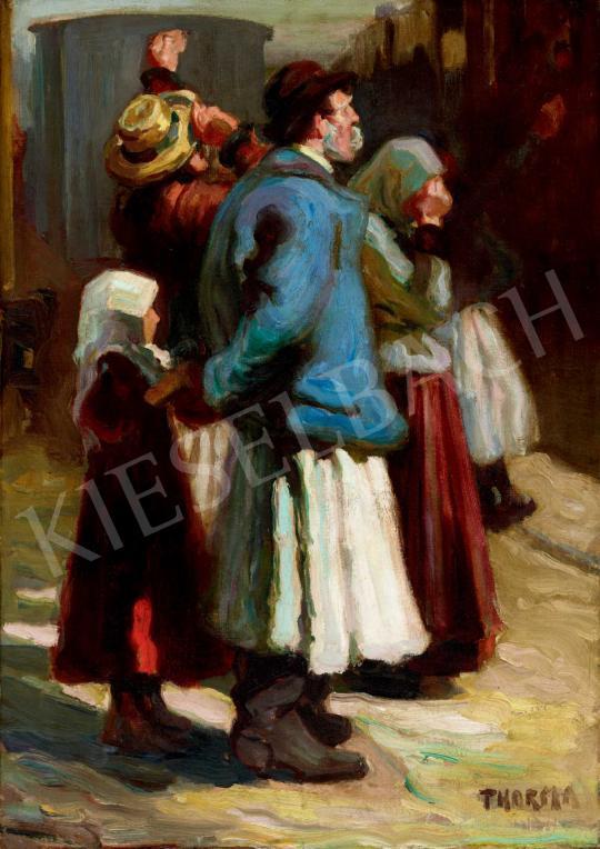 Thorma János - Búcsúzkodás (Pályaudvaron) | 40. Aukció aukció / 103 tétel