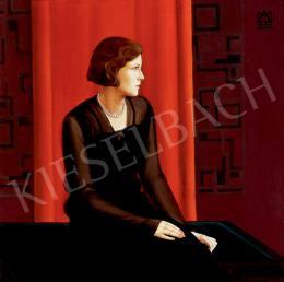 Mezey Artur - Nő art deco szobában (1930)