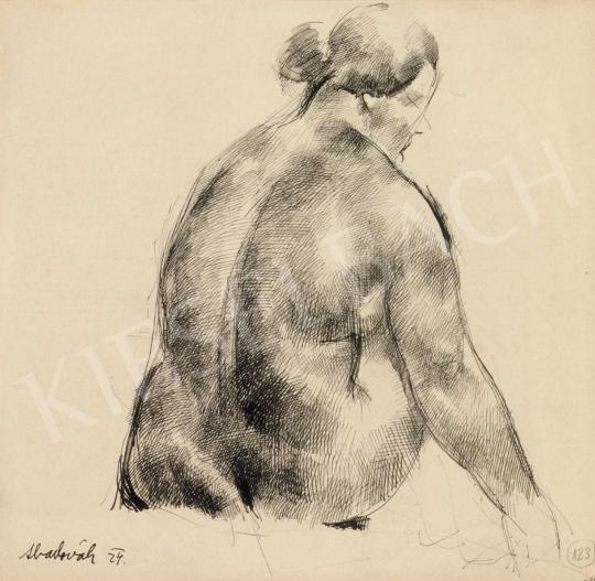 Aba-Novák, Vilmos - Nude Sitting | 40th Auction auction / 164 Item