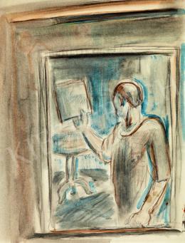 Egry József - Tükörben (Önarckép)