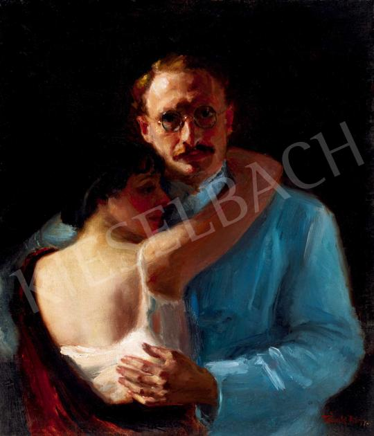 Frank, Frigyes - Embrace (The Painter and His Model, Mimi) | 40th Auction auction / 138 Item