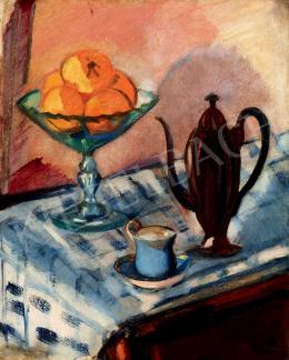 Márffy Ödön - Narancsos csendélet kávéskannával