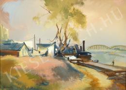 Istókovits Kálmán - Duna-part Lágymányosnál (1940)