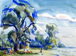 A. Tóth Sándor - Balatoni strand (1960)
