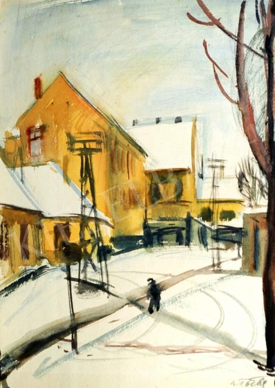 A. Tóth, Sándor - Street in Winter painting