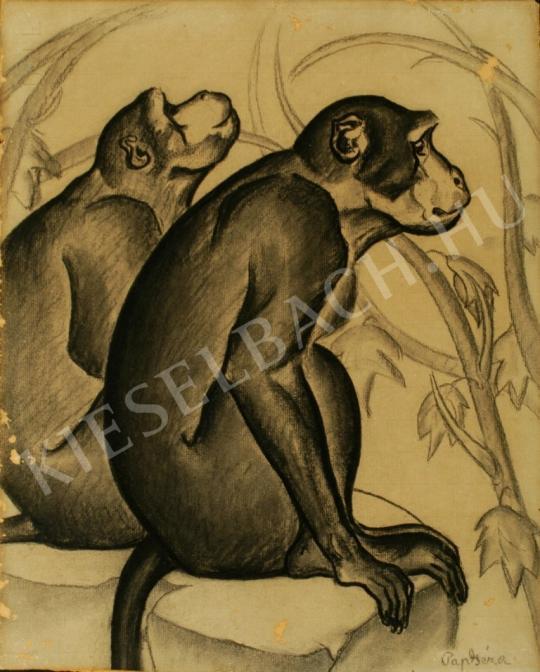 Pap Géza - Majmok festménye