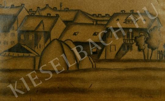 Eladó Pap Géza - Boglyák a város szélén festménye