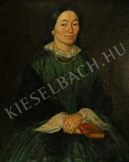 Ismeretlen festő - Ismeretlen hölgy portréja (19. század)