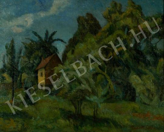 Perlrott Csaba Vilmos - Szentendrei kert festménye