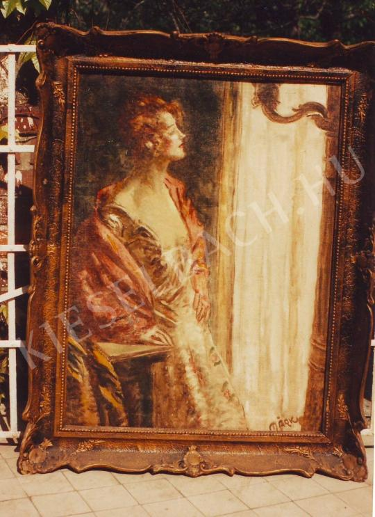 Márk Lajos - Nő ablaknál festménye