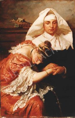 Benczúr, Gyula - Adulterous woman (1886)