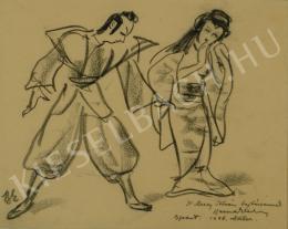 Ismeretlen művész - Szamuráj és gésa (1938)