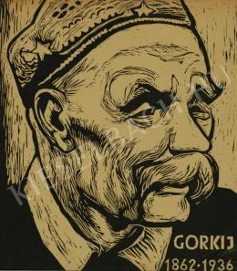 Ismeretlen művész - Maxim Gorkij arcképe (1936)
