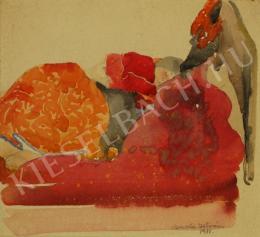 Barta István - Kislány ágyban (Szecessziós kompozíció) (1911)