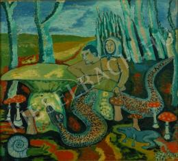 Balázs, János - Mushroom-pickers (Scene with snake) (c. 1975)