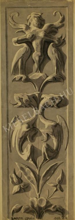 Barta István - Stukkóterv (Főiskolai tanulmány) (1908)