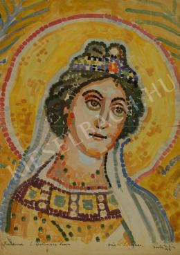 Barta István - Szent Ágnes mozaik (Tanulmány) (1913)