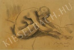 Barta István - Női akt (Lábához hajoló) (1935)
