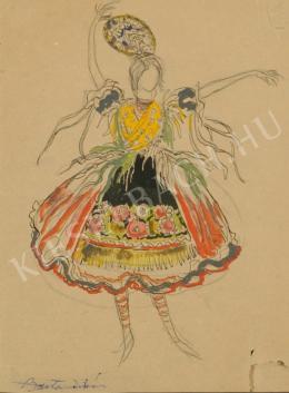 Barta István - Népviseletben (Magyar táncos) (1920 körül)