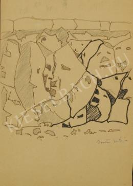Barta István - Dunaparti kövek (Arcok) (1960-as évek)
