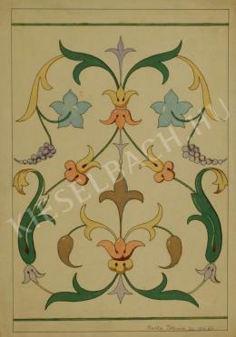 Barta István - Növénytanulmány (Ornamentika) (1907)