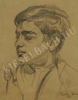 Barta István - Fiatal férfi portréja (1915)