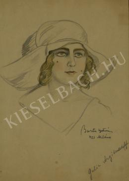 Barta István - Orosz színésznő (Art deco portré) (1921)